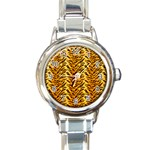 Just Tiger Round Italian Charm Watch