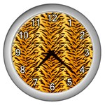 Just Tiger Wall Clock (Silver)