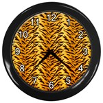Just Tiger Wall Clock (Black)