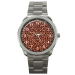 Just Leopard Sport Metal Watch