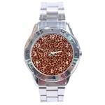 Just Leopard Stainless Steel Analogue Men's Watch