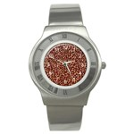 Just Leopard Stainless Steel Watch