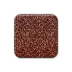 Just Leopard Rubber Square Coaster (4 pack)