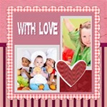 with love - ScrapBook Page 8  x 8