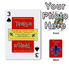 Tap By B B    Playing Cards 54 Designs   Voyytyud1tq3   Www Artscow Com Front - Spade3