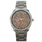 Just Snow Leopard Sport Metal Watch
