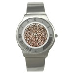Just Snow Leopard Stainless Steel Watch