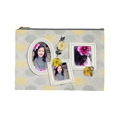 Large  Cosmetic Bag  Happiness 2 By Jennyl   Cosmetic Bag (large)   Cgjde1xm5l6m   Www Artscow Com Front