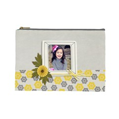 Large  Cosmetic Bag  Happiness 3 By Jennyl   Cosmetic Bag (large)   N09m36s8zgkn   Www Artscow Com Front