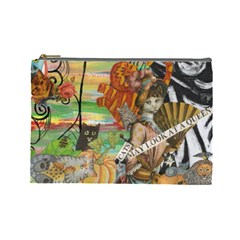 Cats May Look At A Queen Cosmetic Bag (Large) by Kewzoo