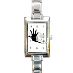 Rabbit Hand Shadow Classic Elegant Ladies Watch (rectangle) by rabbithandshadow