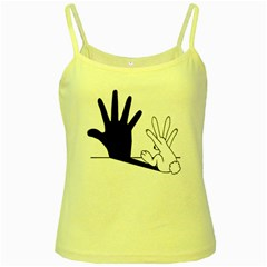 Rabbit Hand Shadow Yellow Spaghetti Top by rabbithandshadow