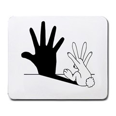 Rabbit Hand Shadow Large Mouse Pad (rectangle) by rabbithandshadow