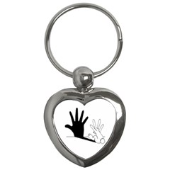 Rabbit Hand Shadow Key Chain (heart) by rabbithandshadow