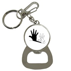 Rabbit Hand Shadow Key Chain With Bottle Opener by rabbithandshadow
