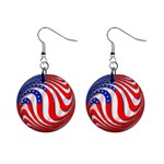 USA 1  Button Earrings