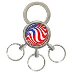 USA 3-Ring Key Chain