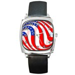 USA Square Metal Watch