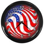 USA Wall Clock (Black)