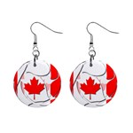 Canada 1  Button Earrings