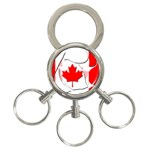 Canada 3-Ring Key Chain
