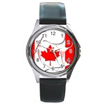 Canada Round Metal Watch