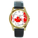 Canada Round Gold Metal Watch