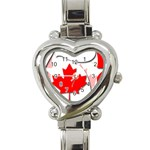 Canada Heart Italian Charm Watch