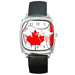 Canada Square Metal Watch