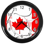 Canada Wall Clock (Black)