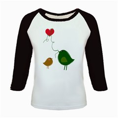 Love Birds Long Sleeve Raglan Womens'' T Shirt by LoveBirds