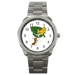 Animal World Stainless Steel Sports Watch (round) by AnimalWorld