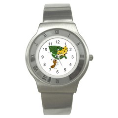 Animal World Stainless Steel Watch (round) by AnimalWorld