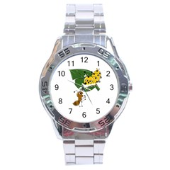 Animal World Stainless Steel Analogue Watch (round) by AnimalWorld