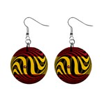 Spain Dark 1  Button Earrings