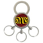 Spain Dark 3-Ring Key Chain