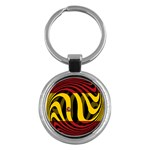 Spain Dark Key Chain (Round)