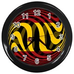 Spain Dark Wall Clock (Black)