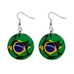 Brazil 1  Button Earrings