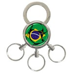 Brazil 3-Ring Key Chain