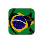 Brazil Rubber Square Coaster (4 pack)