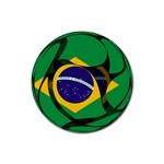 Brazil Rubber Round Coaster (4 pack)