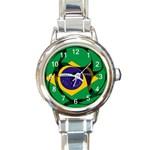 Brazil Round Italian Charm Watch