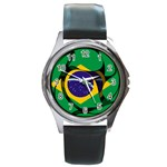 Brazil Round Metal Watch