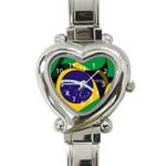 Brazil Heart Italian Charm Watch