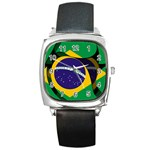 Brazil Square Metal Watch