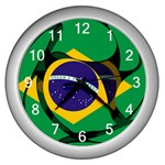 Brazil Wall Clock (Silver)