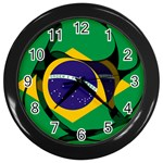 Brazil Wall Clock (Black)