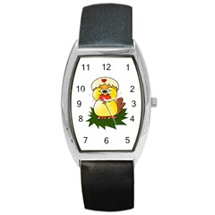 Coming Bird Black Leather Watch (tonneau) by ComingBird