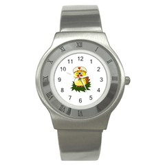 Coming Bird Stainless Steel Watch (round) by ComingBird